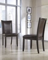 Ashley Trishelle Dark Brown Dining UPH Side Chair (2/CN) d550-02 in Great Lakes, Illinois