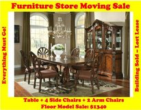 Ledelle Dining Room Set Ashley D705 Furniture Store Moving Sale in Great Lakes, Illinois
