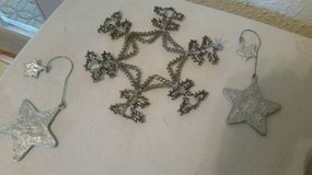 Beaded new Snowflake and star ornaments in Vista, California