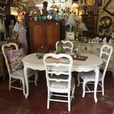 White Shabby Chic Dining Table in Temecula, California