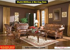 CTR 186005 Victoria LIVING ROOM Genuine Leather Sofa Set in Great Lakes, Illinois