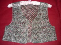 WOMEN'S VEST MULTI-COLOR HAND CROCHETED-NWOT in Yucca Valley, California