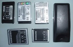 lot of 4 vintage cell phone batteries: lg, motorola, samsung, energizer in Naperville, Illinois