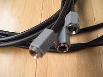 set of 3 high quality coax cables direct tv, 3 black, approx 6' in Batavia, Illinois
