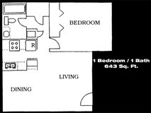 Spacious Downstairs 1 Bedroom w/ Refrigerated A/C! in Fort Bliss, Texas