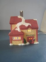 Lighted Christmas village porcelain DRUG STORE 1994 holiday house in Bolingbrook, Illinois