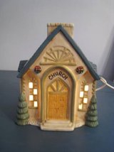 Lighted Christmas village CHURCH 1994 holiday building in Bolingbrook, Illinois