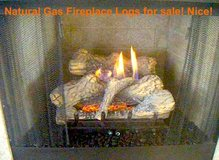 Vented and Vent-Free Natural Gas Fireplace Logs with gas base in Camp Lejeune, North Carolina