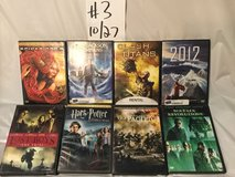 lot of 27 dvds, movies all blockbusters,lot# 10/27-3 ex-rentals great in Aurora, Illinois
