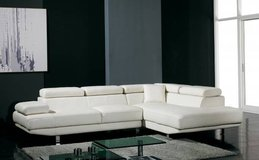 "***White Modern Leather Sectional**""Summer""*** in San Clemente, California"