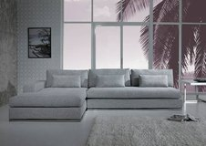 ***Myra's Modern Light Grey Fabric Sectional*** in San Clemente, California