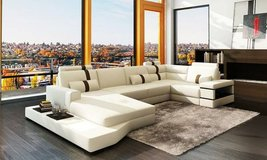 "*****""Angel's"" White Leather Sectional with Light***** in San Clemente, California"