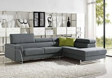 ***Midtown Grey Fabric Sectional*** in San Clemente, California