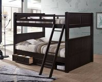 """Phoenix"" Queen over Queen Bunk Bed with Storage Drawers in San Clemente, California"