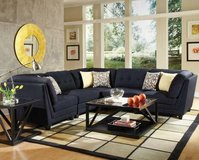 Tamera's Blue Tufted 5 PC Sectional Sofa in San Clemente, California