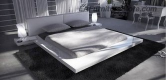 ***Daytona's White Low Profile Platform Bed*** in San Clemente, California