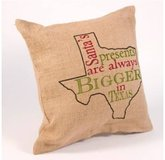 TEXAS HOLIDAY BURLAP PILLOW COVER in Bellaire, Texas