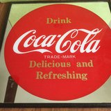 VINTAGE 1970's DRINK  COCA COLA PLEXI  SIGN /MIRROR from OKINAWA in Okinawa, Japan