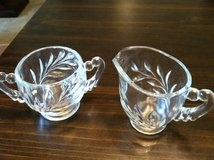 Vintage Clear Glass Cream and Sugar in Joliet, Illinois