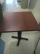Cherry Top/Black Base Commercial Restaurant Square Tables- 4 Avail. in DeKalb, Illinois