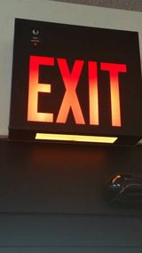 Black Steel Exit Lights. Hardwire w/ Battery Backup and safety light! in DeKalb, Illinois