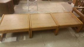2ft x 2ft Square Solid Oak End Tables- 3 available in DeKalb, Illinois