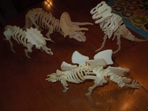 Four 3-D Dinosaur Figure / Puzzles 12 inches in Oswego, Illinois