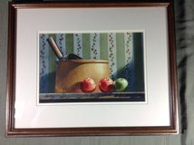"""1986 original michael weber watercolor """"afternoon delight"""" - framed signed in Aurora, Illinois"""