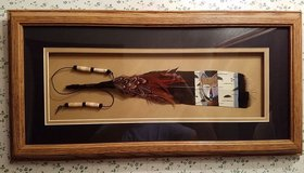 native american modern painted bird feather image wolf framed in Cadiz, Kentucky