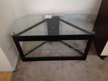 "Three Level Black Metal and Glass TV Stand-Holds up to 42"" in Chicago, Illinois"