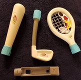 wii nerf tennis/golf/baseball sports pack controller attachments & storage bag! in Elgin, Illinois