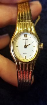 pulsar ladies quartz gold tone band watch in Elgin, Illinois