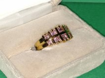 Gold Bonded 925 CZ Ring- Size 7.5 signed Farrah Fawcett in Glendale Heights, Illinois