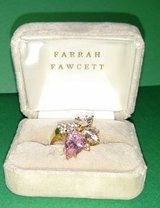 gold bonded ~ 925 CZ Ring- Size 7 signed Farrah Fawcett in Lockport, Illinois