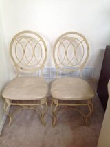 DIY - 2 Cream Metal and Upholstered Side Chairs in Chicago, Illinois