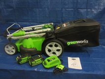 GreenWorks 40V Twin Force 20-Inch Cordless Lawn Mower in Glendale Heights, Illinois