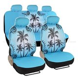 BDK Universal Fit seat covers Blue Palm Tree Beach NEW in Joliet, Illinois