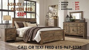 ** ASHLEY QUEEN RUSTIC BED ** NO CREDIT NEEDED ** BRAND NEW in Nashville, Tennessee