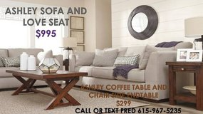 ** ASHLEY LIVING ROOM PACKAGE ** SOFA LOVE SEAT AND COFFEE TABLE SET * in Nashville, Tennessee