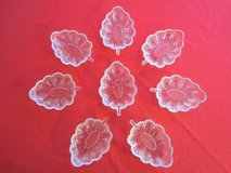8 Glass Leaf Shape Dishes Vintage Depression Glass Relish, Candy, Dessert Bowls in Brookfield, Wisconsin