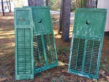 Beautiful Green Vintage Naturally Distressed  Large Shutters in Camp Lejeune, North Carolina