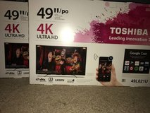 "Brand new Toshiba 49"" LED 4K with chrome cast builtin OBO in Glendale Heights, Illinois"