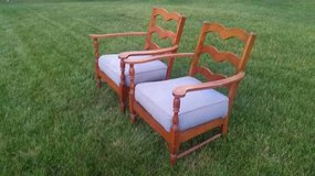 VINTAGE Pair of Llyod Loom Chairs in Plainfield, Illinois