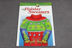 adult coloring book ugly holiday sweaters creative haven christmas in Kingwood, Texas