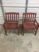 Solid Wood Patio Chairs, Set of 2 in Travis AFB, California