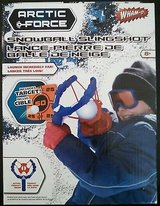 new wham-o arctic force snowball slingshot w/ target snow launcher thrower whamo in Bolingbrook, Illinois