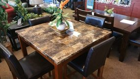 BROWN MARBLE DINING TABLE in Honolulu, Hawaii