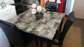 GRAY FAUX MARBLE TABLE in Schofield Barracks, Hawaii