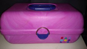 Caboodles Pink ,Teal Purple Make Up Organizer Mirror Cosmetic Case in Glendale Heights, Illinois