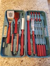 bbq tools set 18 piece kit case stainless steel grill cooking outdoor utensils in Glendale Heights, Illinois
